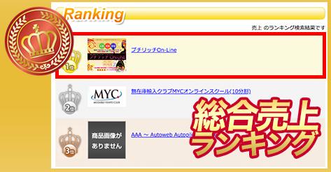 プチリッチOn-Line・総合売上部門・ランキング1位.PNG